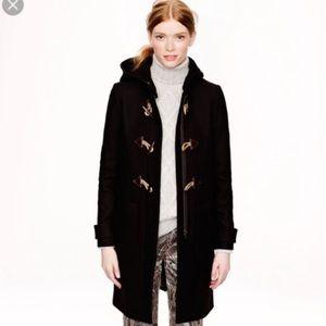 J Crew Convertible Toggle Black Wool Coat 2